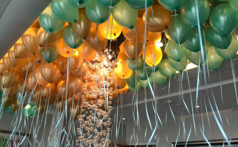 Helium balloons for party